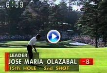 Este eagle fue clave en la victoria de José María Olazábal en el Masters de 1994 ¡qué tres tirazos!