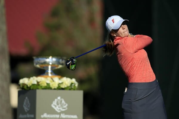 Marta Pérez durante la primera jornada del Augusta National Women's Amateur
