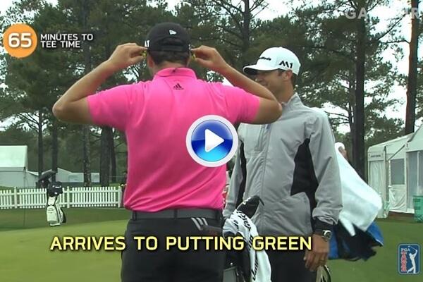 Así es la rutina de Jon Rahm antes de una ronda de Golf. 139 golpes en una hora y cinco minutos