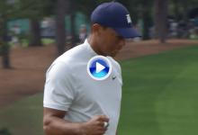El Tigre se afila las garras en Augusta. Zarpazo de Woods en el 9 desde más allá de los once metros