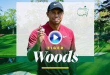 Lo mejor de Tiger en menos de 3′. Woods al rebufo de la cabeza tras firmar 70 golpes en la 1ª jor.