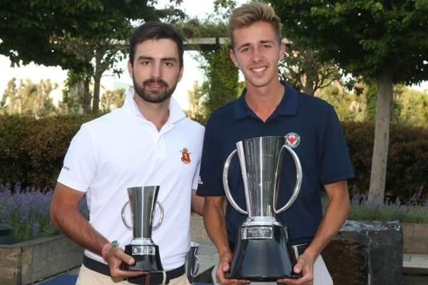 David Puig y Sergio Parriego con sus trofeos