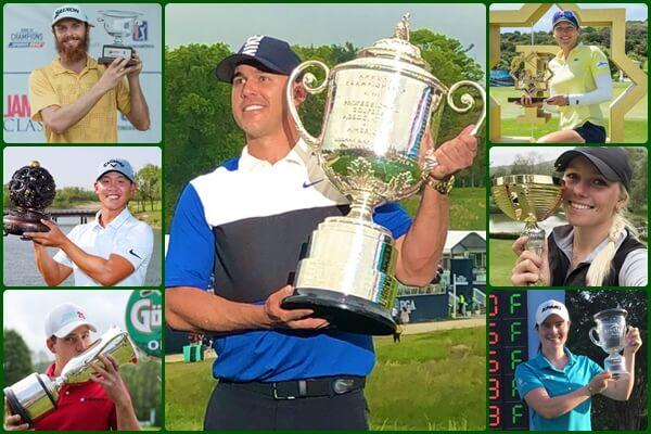 Koepka se embolsa 2 mill. de $ por su triunfo en el US PGA (Ver GALERÍA y GANANCIAS, Semana 20)