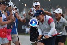 Así felicitaron las españolas a Nuria Iturrioz tras su segunda victoria en el LET en apenas cinco días