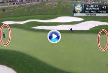 Este estratosférico putt de Hoffman desde ¡21 mts!, que bien vale un corte en el US PGA Championship