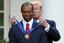 Tiger Woods recibe en la Casa Blanca la Medalla de la Libertad de manos del presidente Donald Trump