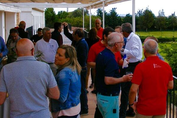 Antes de la comida, los jugadores pudieron disfrutar de un aperitivo en las magníficas instalaciones de Foressos Golf