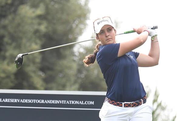 María Parra es tercera a solo dos golpes de la cabeza en el comienzo del torneo