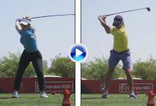 Compare el swing del español Cabrera Bello con el de Paige Spiranac, la llamada Kournikova del golf