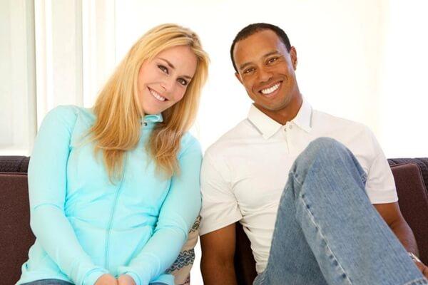 Lindsey Vonn y Tiger Woods en la foto con la que anunciaban su noviazgo
