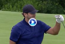 Tony Romo se lleva el golpe del día de la primera jornada del Byron Nelson con este chip para eagle