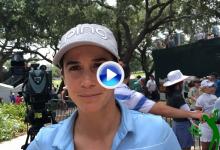 'Aza' en el Top 10 del US Women's Open: «Antes era más conservadora, ahora, si puedo, tiro al trapo»