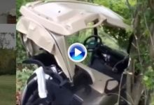 Esto es lo que sucede cuando a uno se le olvida poner el freno al buggy en una fuerte pendiente