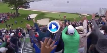 Reviva como un espectador más de Pebble Beach la celebración del último putt de Woodland en el 18