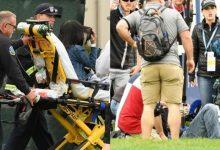 Un cochecito de golf fuera de control hiere a cinco aficionados en el US Open en un extraño accidente
