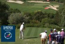¡Esto es Golf! Un golpe de Olazábal que no le gustó nada se convirtió en uno de los mejores del día