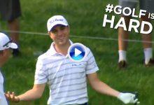 El Golf es duro… JT sorprendió a todo el mundo al enviar su bola al interior de… ¡la Casa Club!