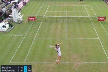 ¿El juego más corto en la historia del tenis? Medvedev ganó uno ante Pouille en tan solo ¡¡29s.!!