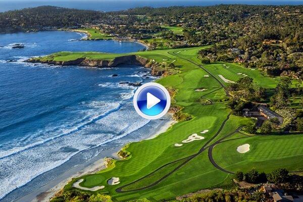 Conozca a vista de pájaro el icónico recorrido de Pebble Beach en California sede del US Open 2019