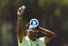Jaidee firma el primer Hoyo en Uno en el GolfSixes. Un golpazo que vale la eliminatoria ante Irlanda