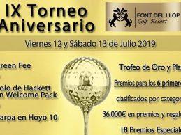 Font del Llop mantiene el nivel en su IX Aniversario 36.000 € en premios y sus trofeos de oro y plata