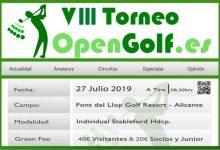 ¡Ya está aquí! OpenGolf celebra la VIII edición de su Torneo en su 10º aniversario (Font del Llop, 27 Julio)