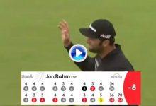Y para terminar… ¡eagle! Rahm cierra su fantástica ronda con este gran golpe desde el rough irlandés