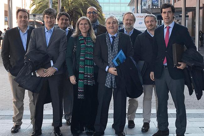 Miembros de la Junta Directiva de la AECG con su Presidenta al frente en una imagen de archivo
