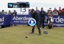 Este misil de Rory en Escocia de ¡436 yds.! con el que cazaba el green desde el tee aún se recuerda