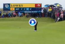 El público lleva en volandas a Lowry: ¡Purazo del irlandés para alcanzar el diez bajo par en el Open!