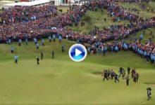 Así fue la entrada triunfal de Lowry y la acogida del público al Golfista Campeón del Año al green del 18