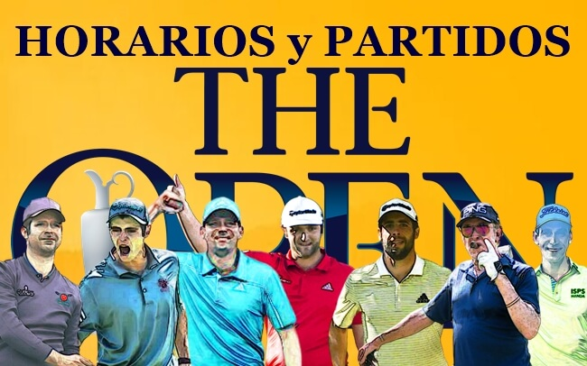 Jon-Kuchar-Cantlay; Rafa-Bubba-Pepperell; Sergio-Simpson-Pan ¡Estos son los horarios para The Open!