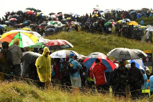 La lluvia será gran protagonista en la tarde del domingo en The Open según las previsiones