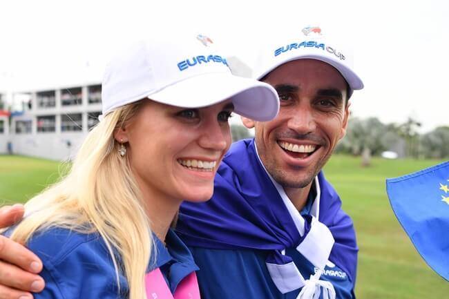 Sofia Lundstedt y Rafa Cabrera Bello durante la Eurasia Cup