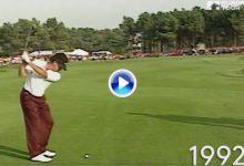 Vea y compare el swing de Miguel Ángel Jiménez año a año. Desde 1992 a 2018 y todos en Suiza