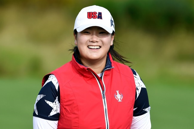 La joven jugadora estadounidense sigue sin saber si podrá contar con el driver para el viernes. Foto: @LPGA