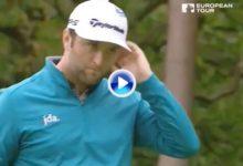 El Golf es duro… Jon Rahm sufrió en sus carnes un «corbatón» de 360º en la recta final del BMW PGA