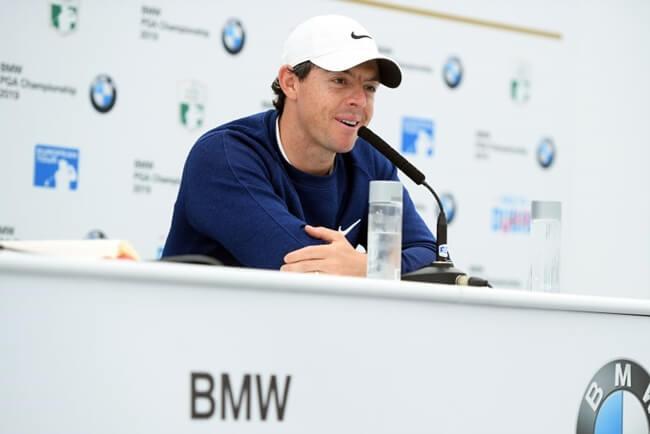 Rory McIlroy durante la rueda de prensa