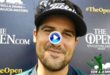 Samuel del Val, jugador del Webdot, ahora en el PGA China, felicita a OpenGolf en su 10 aniversario