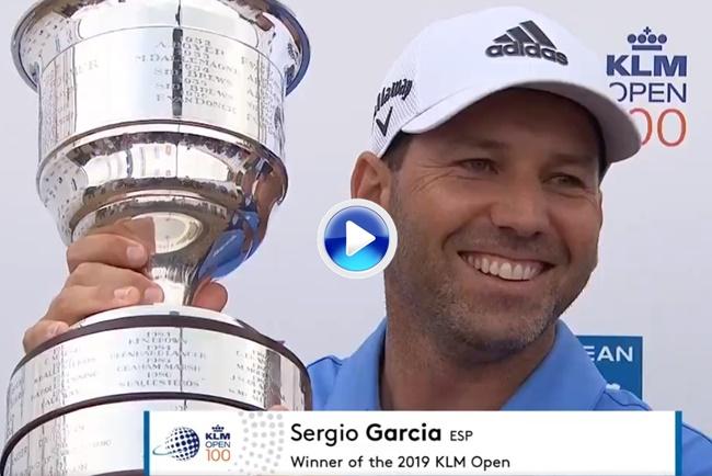 Sergio García se llevó el título en el KLM Open con una gran ronda dominical de principio a fin