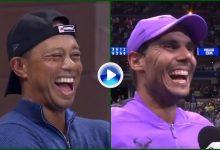 Las palabras de Rafa Nadal que emocionaron y sacaron la carcajada a Tiger Woods en el US Open