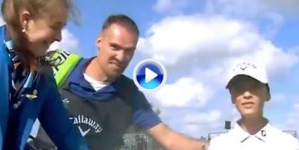 Este chaval de apenas 12 años batió a los pros durante el KLM en un desafío de acercarla al hoyo