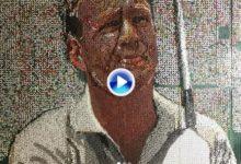 Vea este increíble cuadro de Arnold Palmer hecho con ¡¡38.000 tees!! ¿su autor? el artista Blake Byers