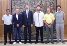 Rahm, García, Cabrera, Olazábal y Jiménez fueron recibidos por El Rey con motivo del Open de España