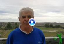 Juan Quirós, 4 veces ganador en el Circuito Senior, felicitó «de corazón» a OpenGolf en su Aniversario