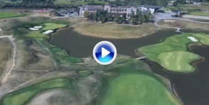 Vea a vista de pájaro, Le Golf National, recorrido que acoge el Open de Francia, sede de la Ryder '18