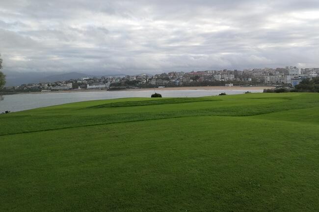 Vista de la playa de El Sardinero desde Mataleñas