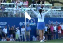 Este Flop Shot de Georgia Hall en la final de la LPGA superó al de Jon Rahm en Dubai ¡Vaya genialidad!
