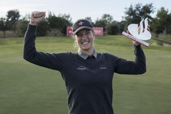 Johanna Gustavsson ganadora en El Prat