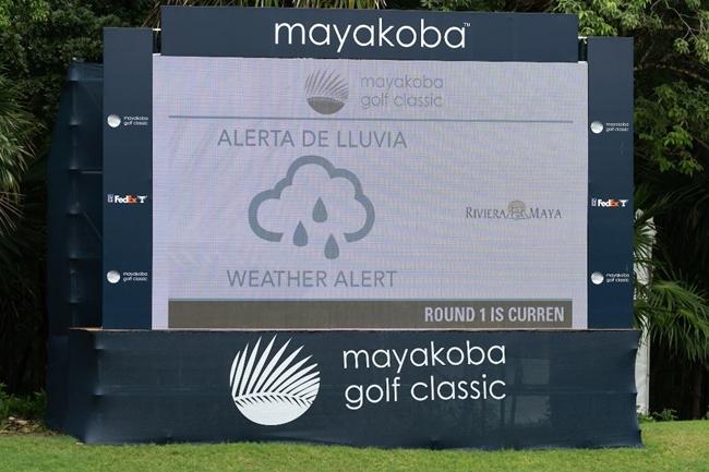 El Camaleón GC mexicano, anegado por las lluvias. El PGA Tour no descarta terminar el torneo el lunes